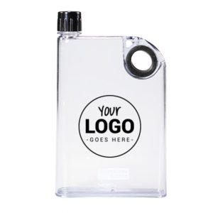 Platte fles, BPA-vrij, A5 formaat inclusief verzenddoos