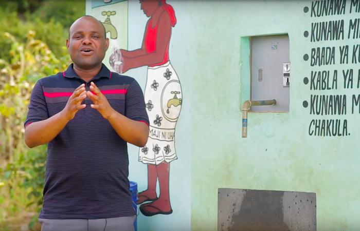 Water Vending Machine van Said in Tanzania
