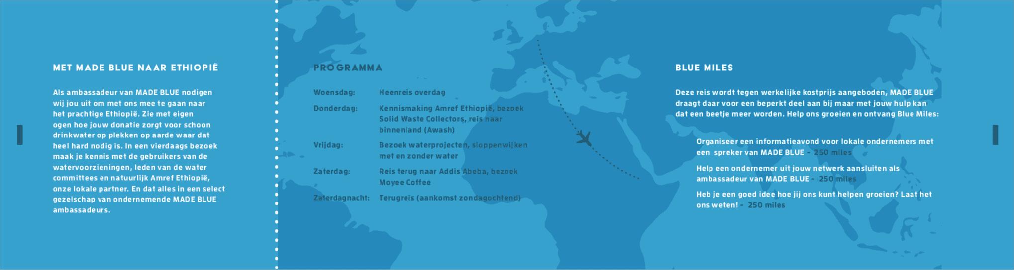 Ticket back - MADE BLUE goes Africa - made blue gaat op reis naar Ethiopië