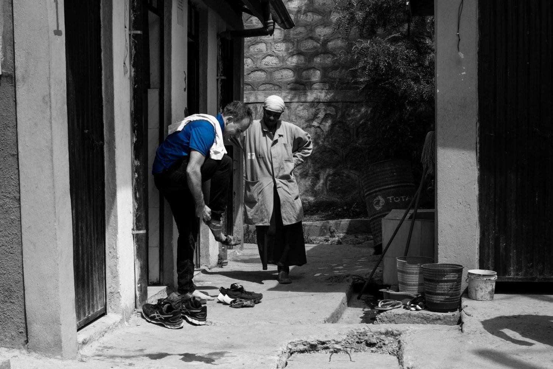 Machiel van Dooren bezoekt ons een water kiosk in Ethiopië.