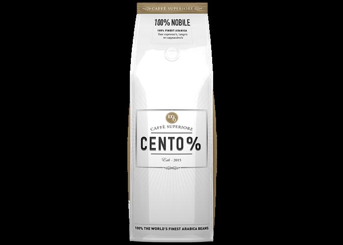 Elke doos Cento% van Koffiepartners is goed voor 1.000 liter.