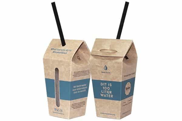 Pop-up cups van MADE BLUE: de meest duurzame wegwerpverpakking voor water to go.